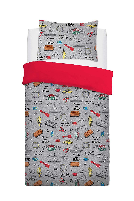 Friend Love Laughter Panel Single Bed Duvet Quilt Cover Set