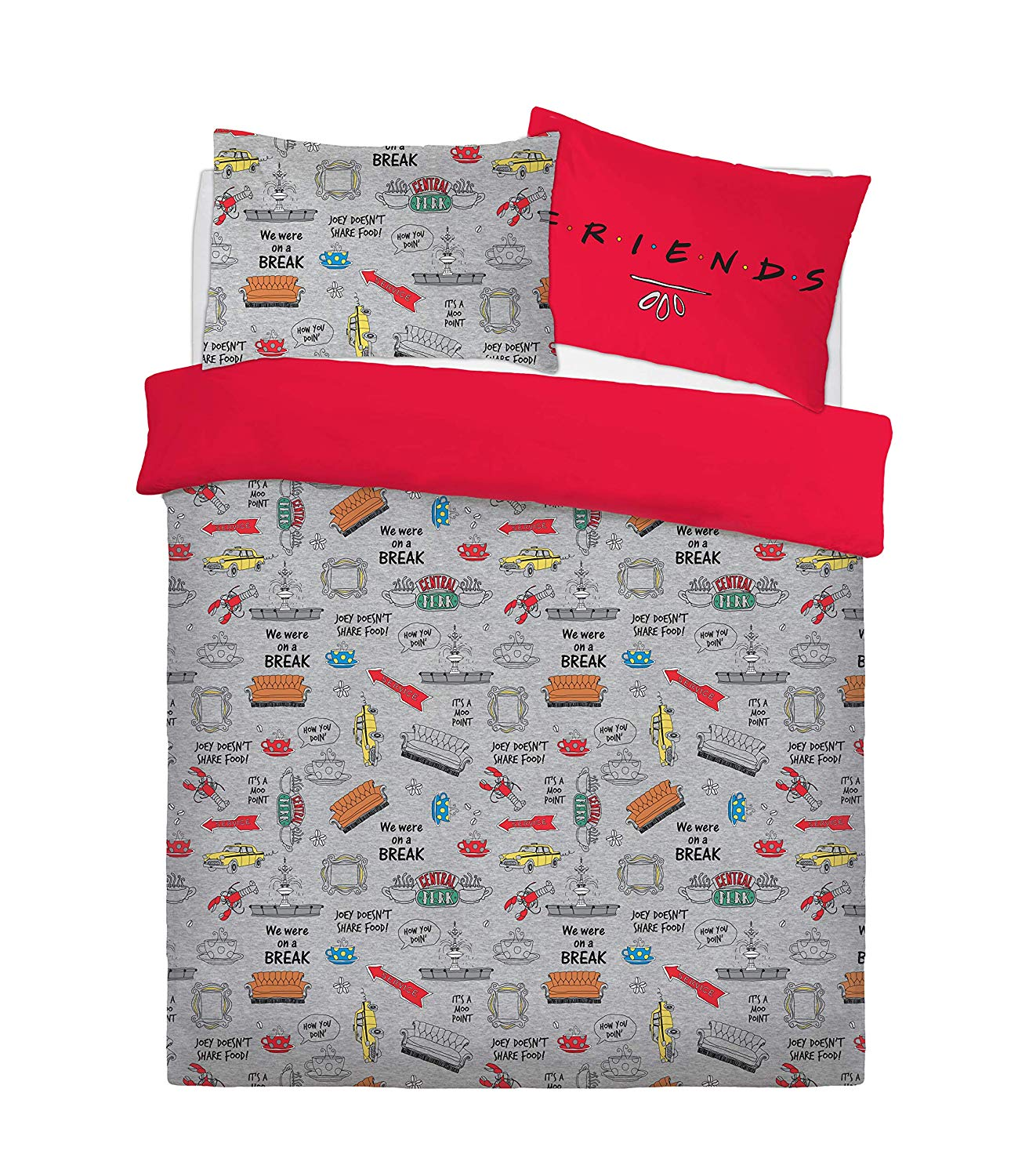 Friend Love Laughter Rotary Double Bed Duvet Quilt Cover Set