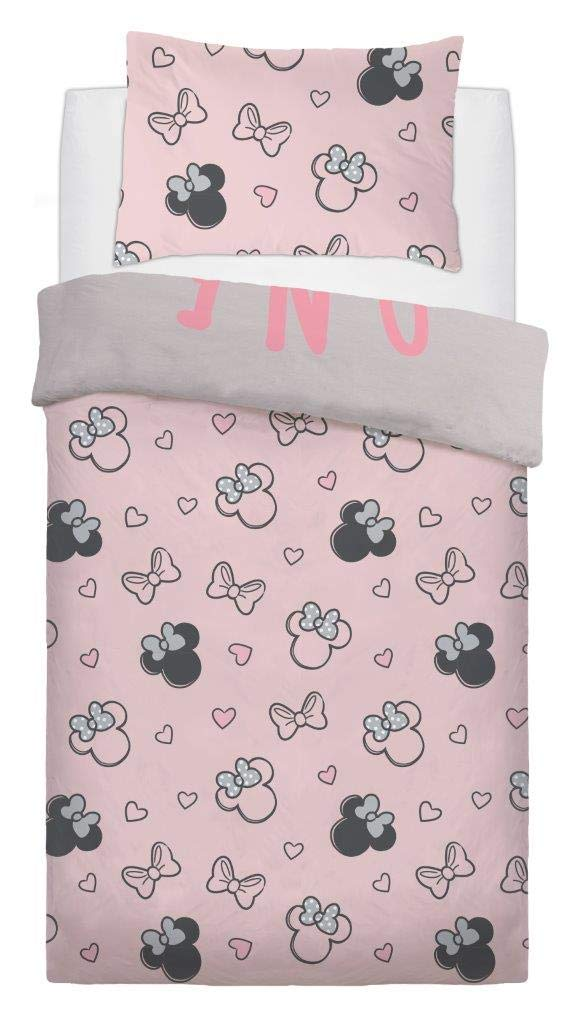 Disney Minnie Mouse One of a Kind Panel Single Bed Duvet Quilt Cover Set