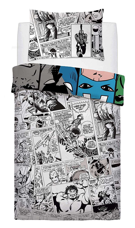 Marvel Comic Tones Rotary Single Bed Duvet Quilt Cover Set