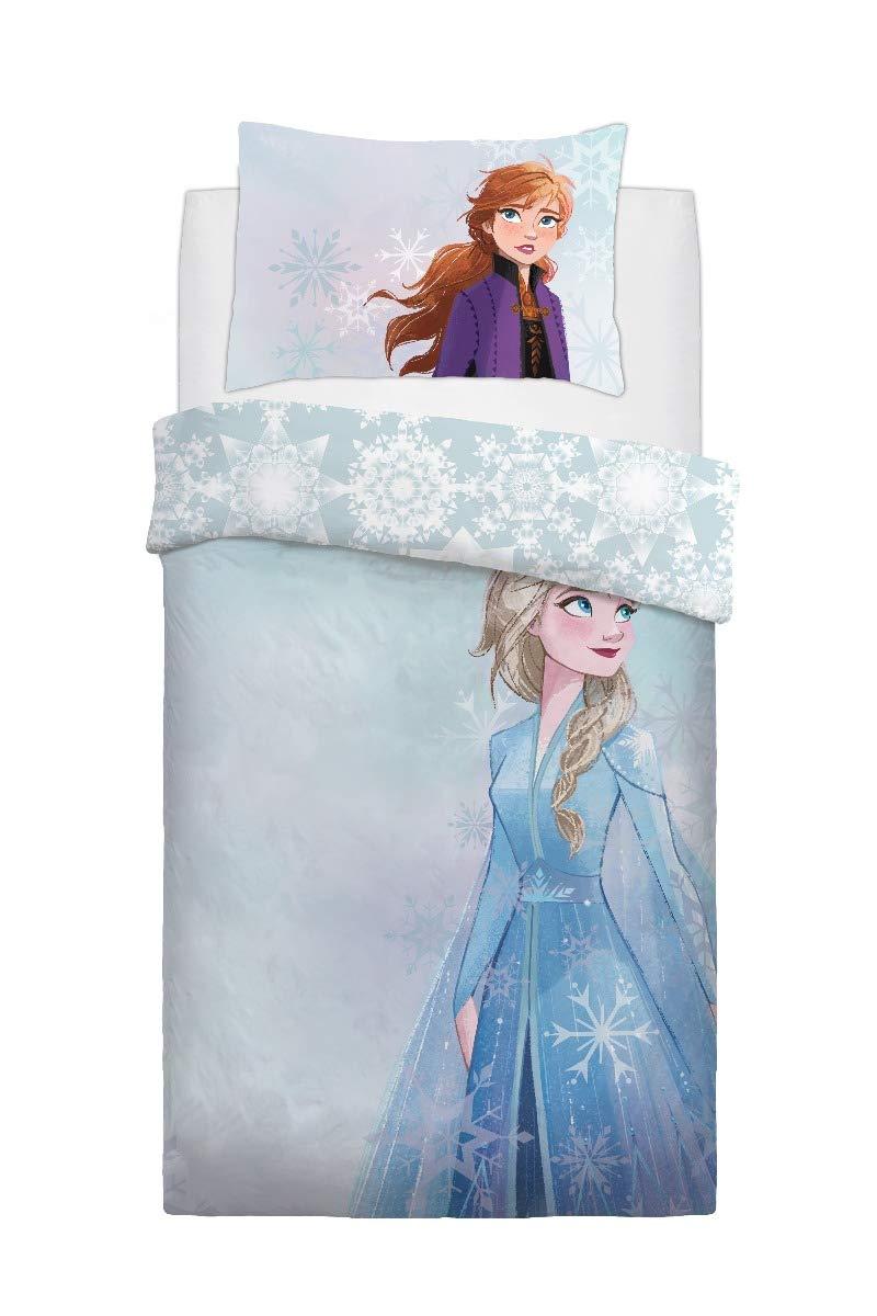 Disney Frozen 2 Watercolour Kids Reversible Panel Single Bed Duvet Quilt Cover Set