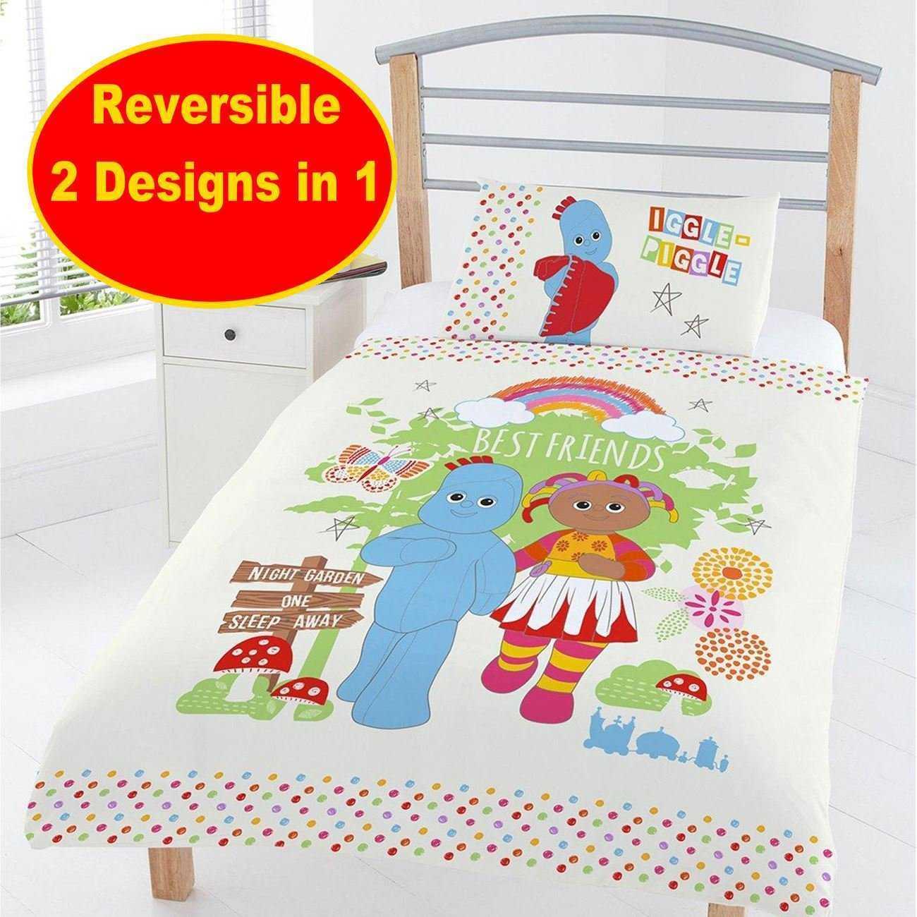 In The Night Garden Best Friends Panel Junior Cot Bed Duvet Quilt Cover Set