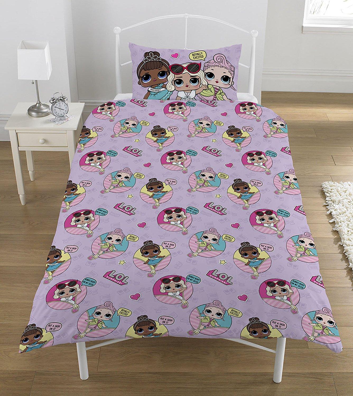 L.o.l. Surprise ' Glam Polyester Cotton Multi Colour Panel Single Bed Duvet Quilt Cover Set