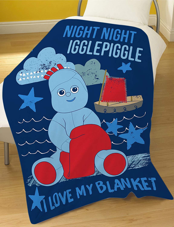 In The Night Garden Iggle Piggle Panel Fleece Blanket Throw