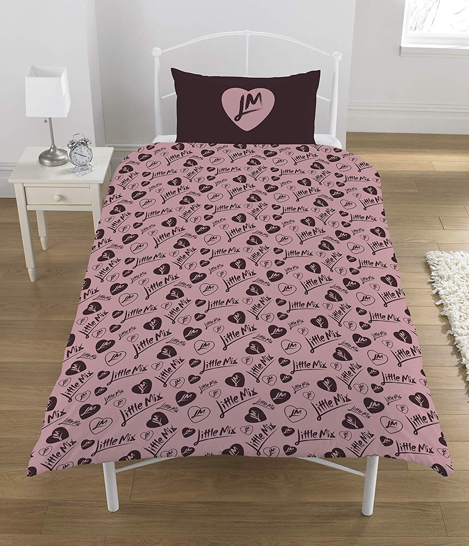 Little Mix Polycotton Panel Single Bed Duvet Quilt Cover Set