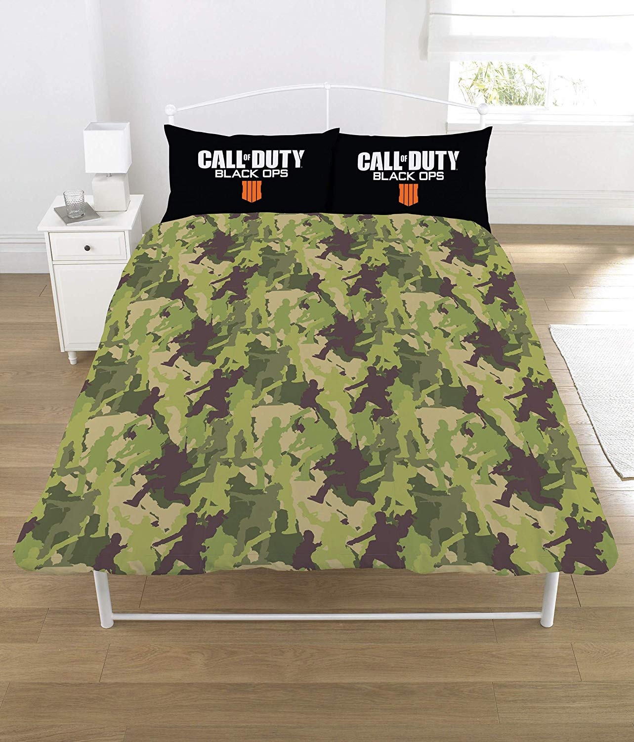 Call of Duty Polycotton Black Panel Double Bed Duvet Quilt Cover Set