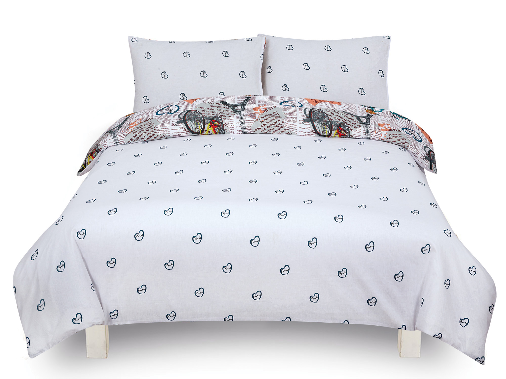 duvet cover with pillow case quilt cover bedding set in. Black Bedroom Furniture Sets. Home Design Ideas