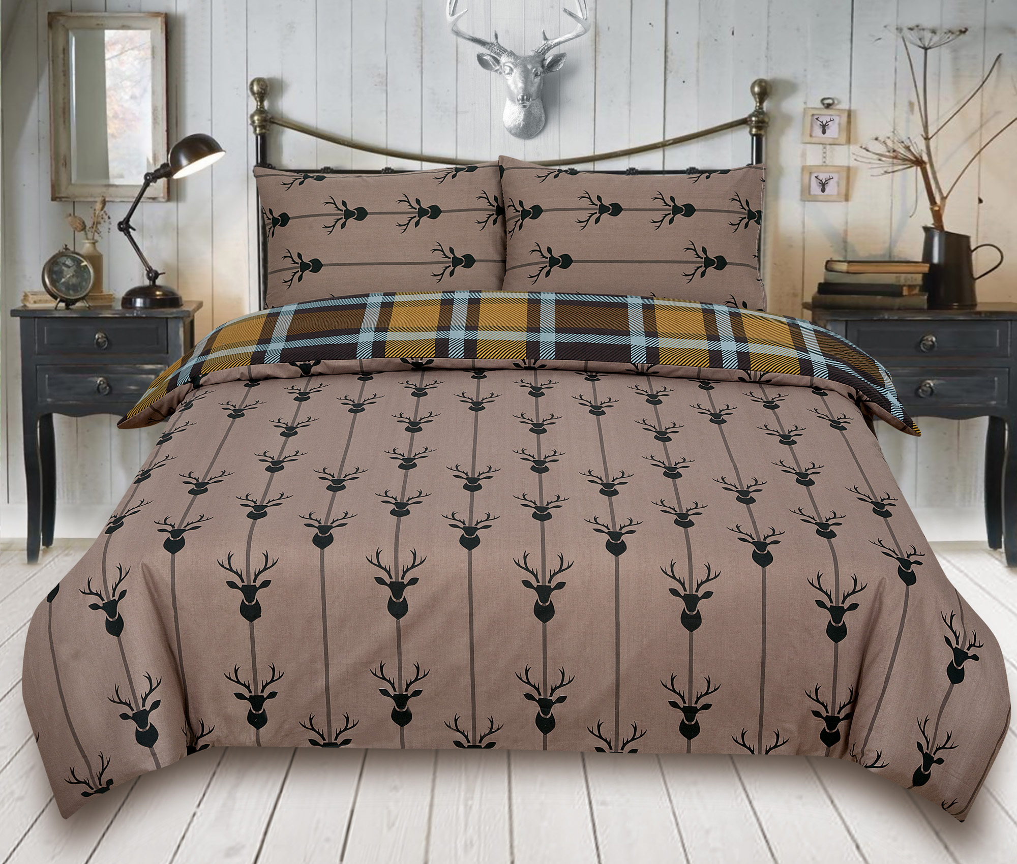 Duvet-Cover-with-Pillow-Case-Quilt-Cover-Bedding-Set-in-Single-Double-King-size miniatura 19