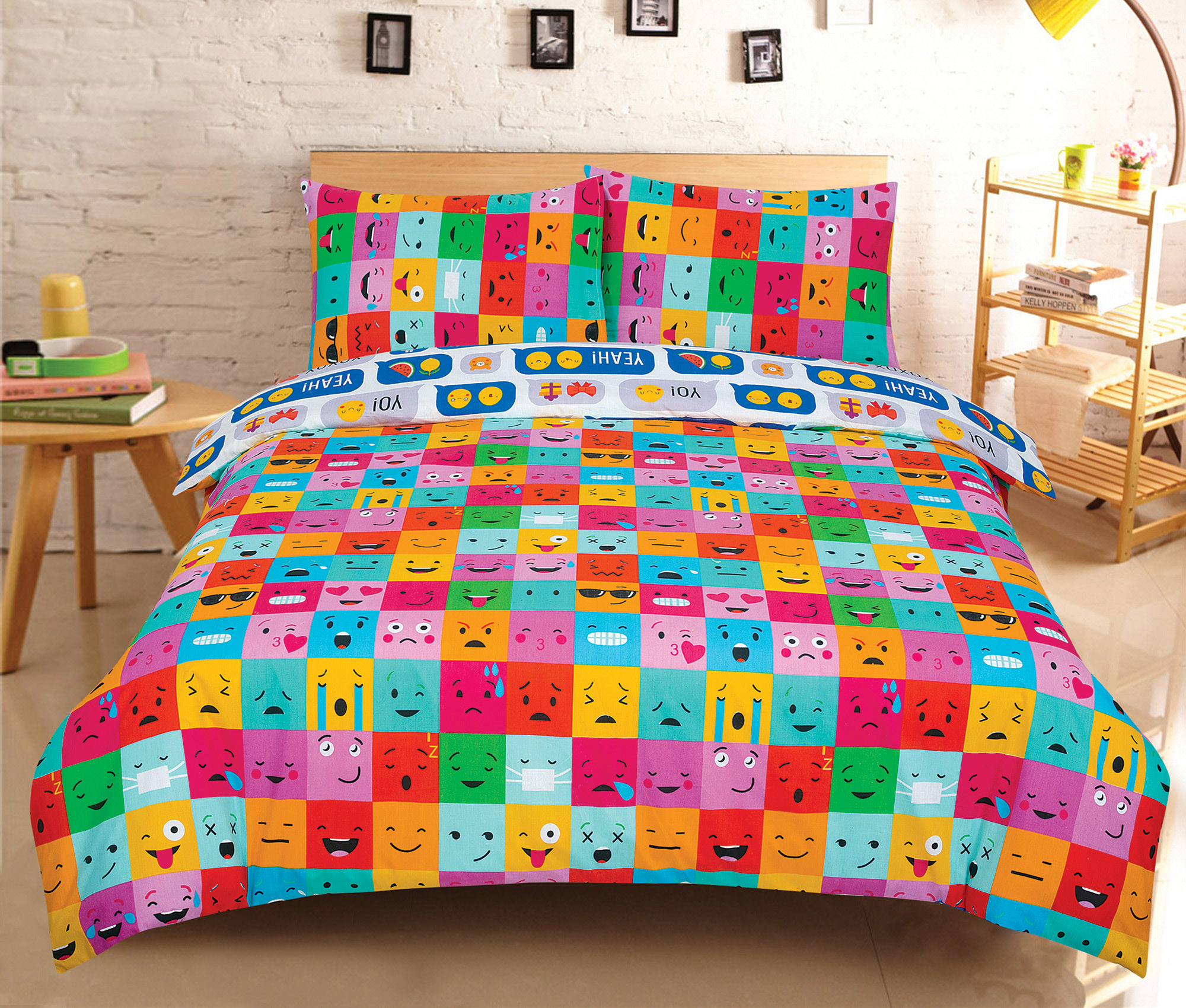 Duvet-Cover-with-Pillow-Case-Quilt-Cover-Bedding-Set-in-Single-Double-King-size miniatura 26