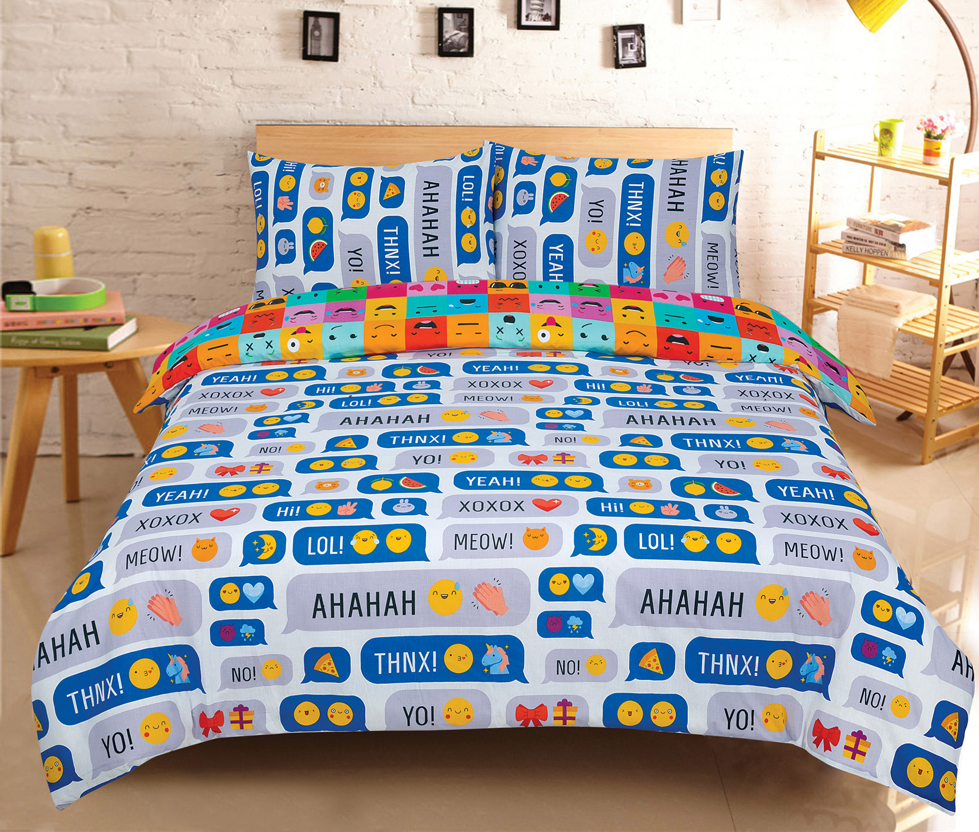 Duvet-Cover-with-Pillow-Case-Quilt-Cover-Bedding-Set-in-Single-Double-King-size miniatura 27