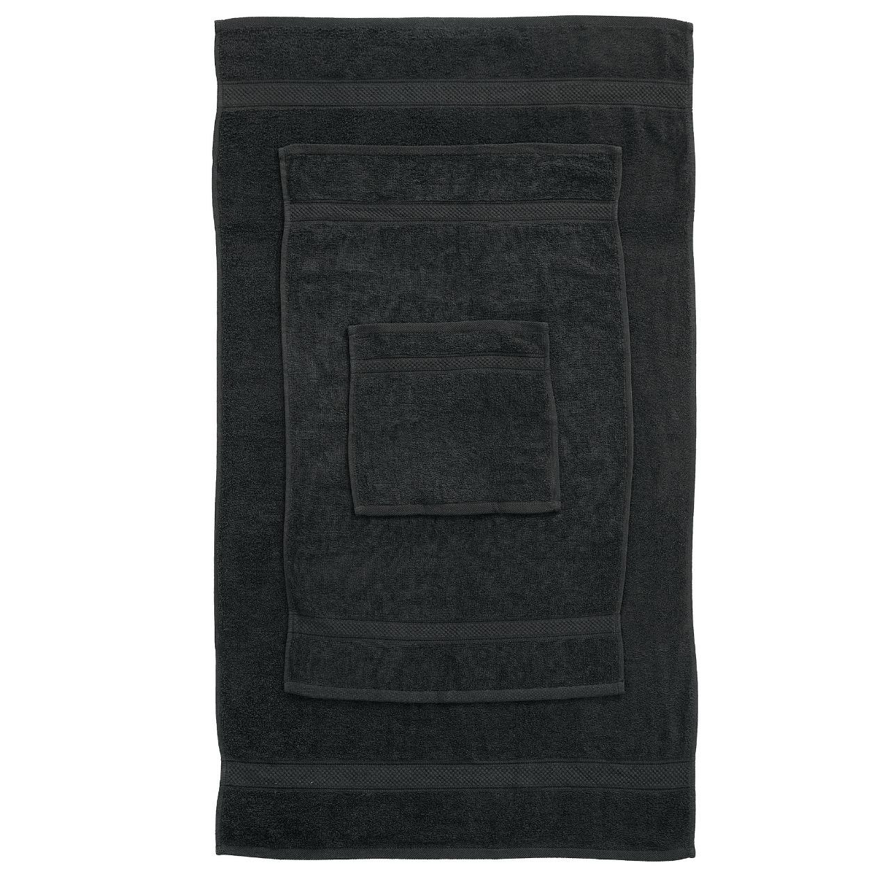 10 Pcs 100% Cotton Black Premium Towel Bale Set Plain