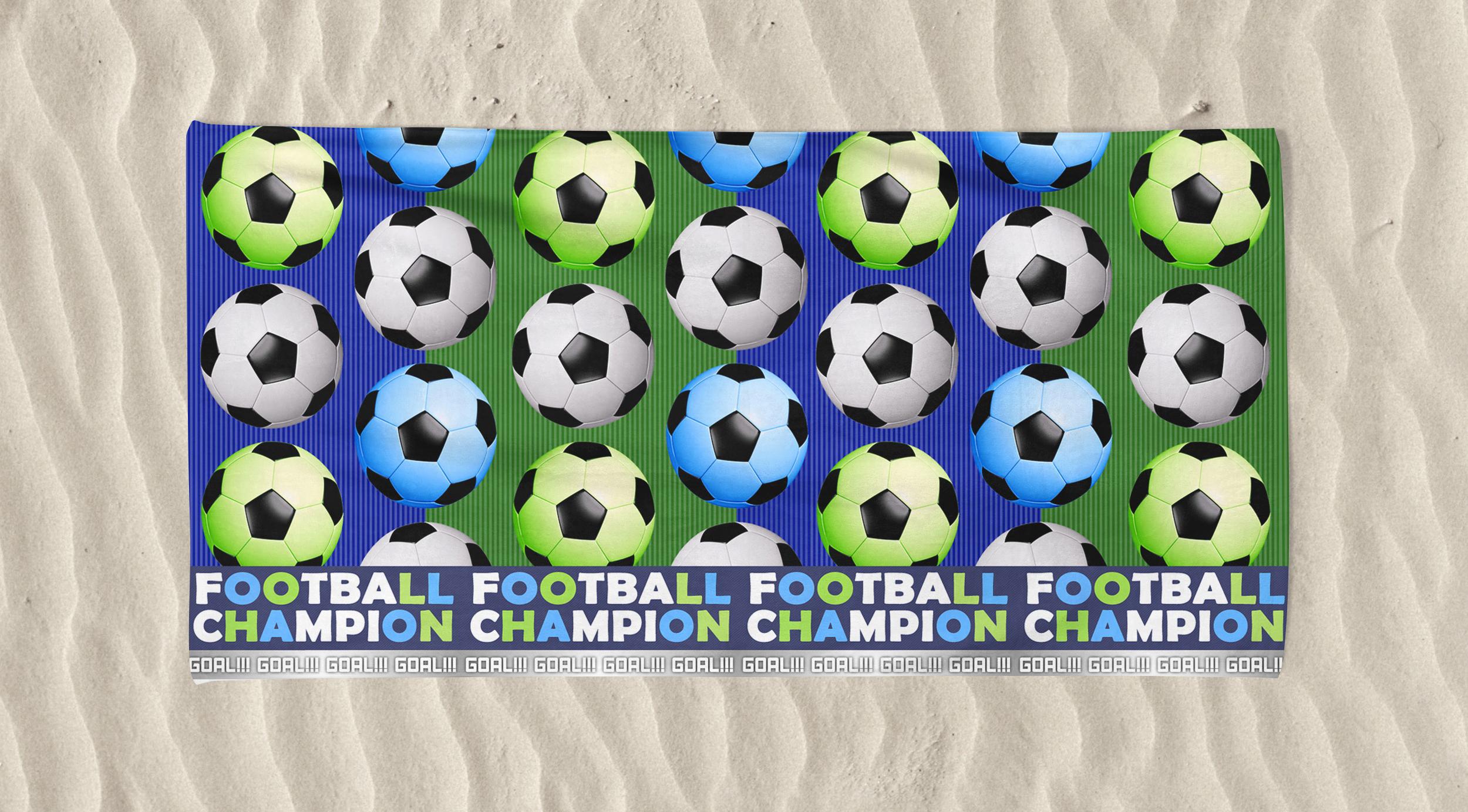Kid's Beach Towel Football Goal Fc Printed
