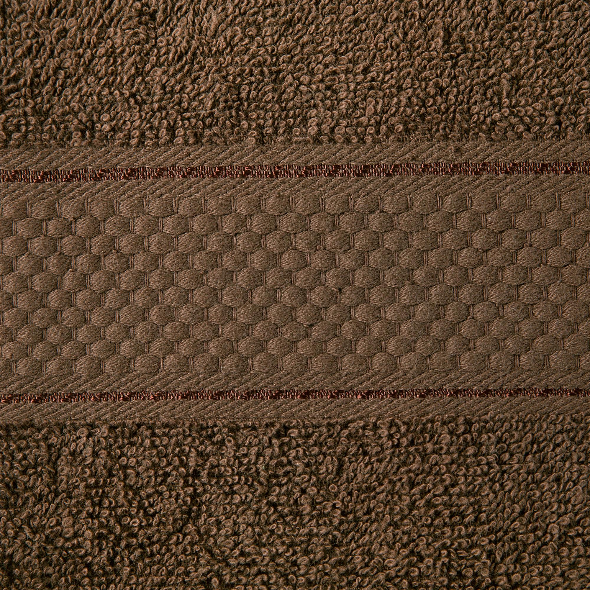 2 Pcs 100 % Cotton Premium Bath Sheet Towel Bale Set Chocolate Plain