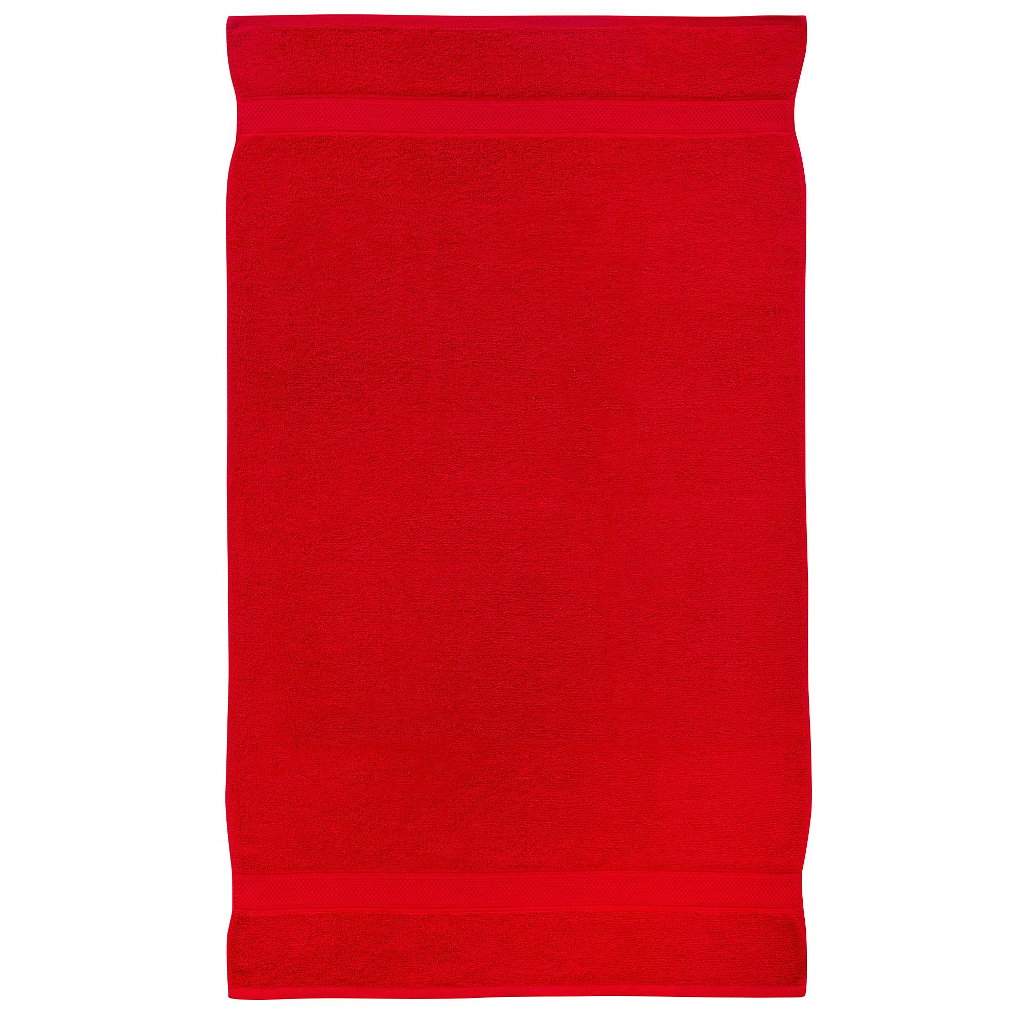 2 Pcs 100 % Cotton Premium Bath Sheet Towel Bale Set Red Plain