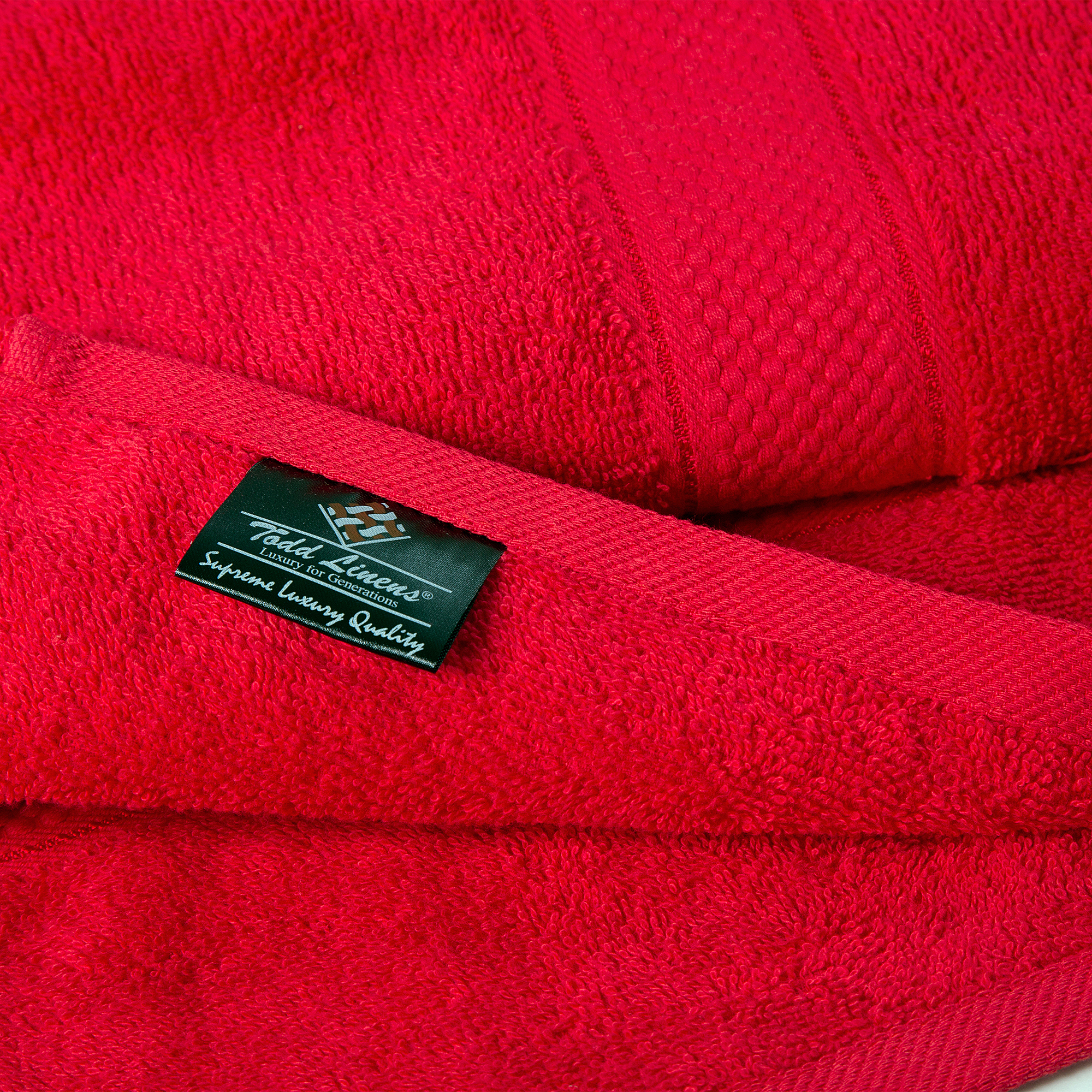 2 Pcs 100 % Cotton Premium Bath Sheet Towel Bale Set Red Plain