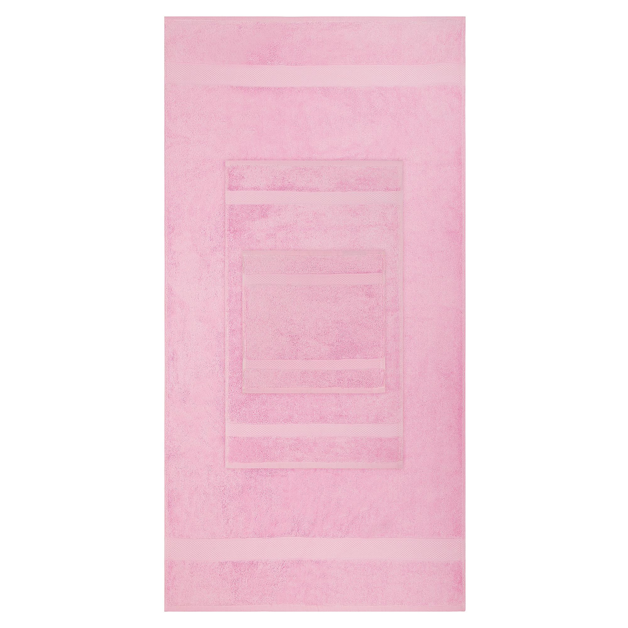 8pcs 700gsm Signature Range Blush Pink Plain 8 Pieces Bale Set Towel