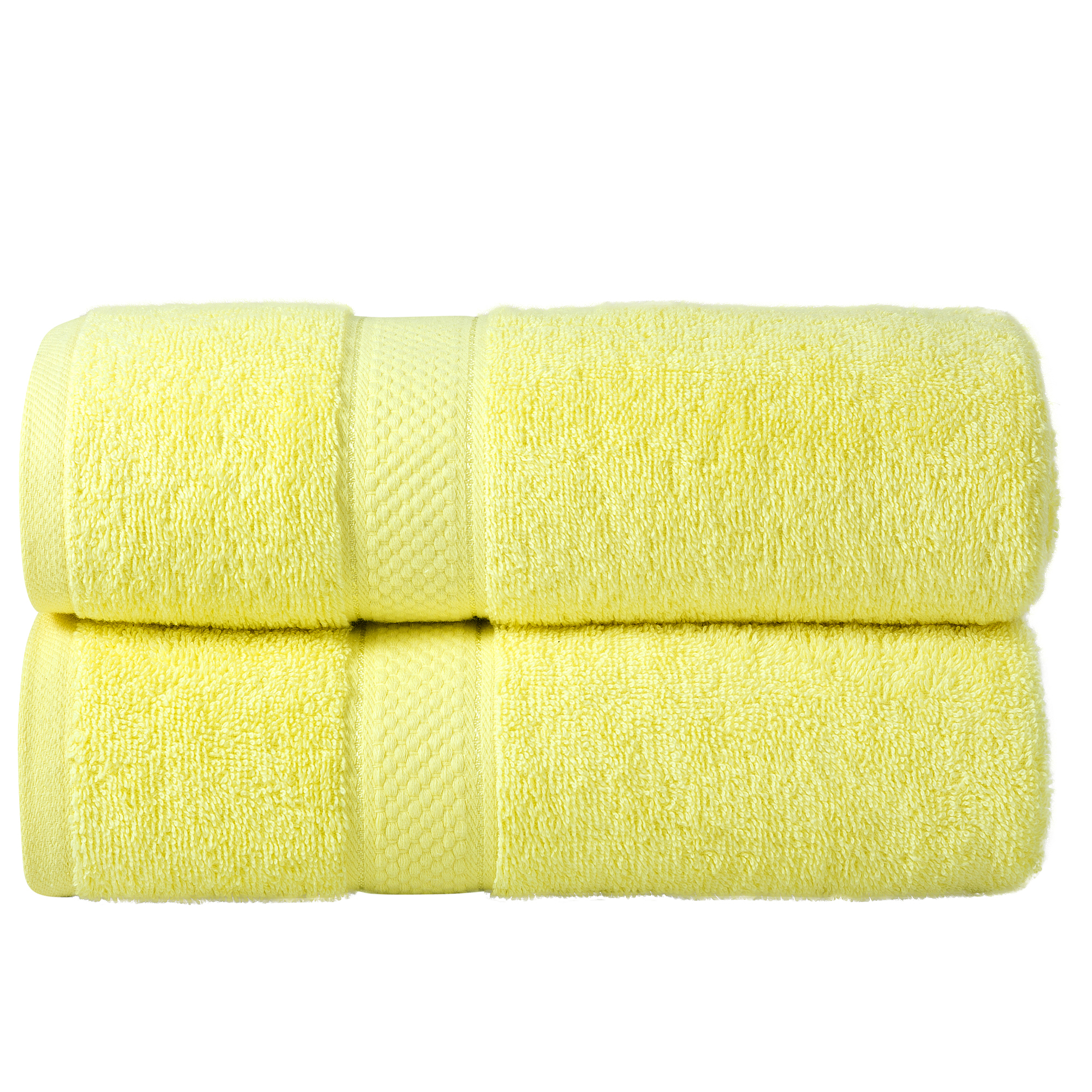 Bale Set 2pcs Lemon Plain Bath Towel