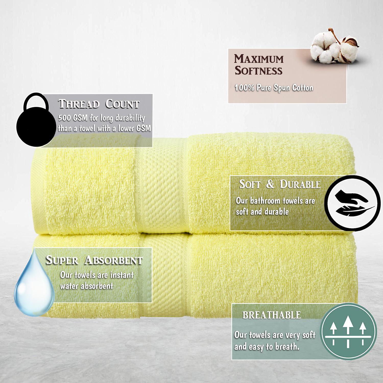 Bale Set 2pcs Lemon Plain Bath Sheet Towel