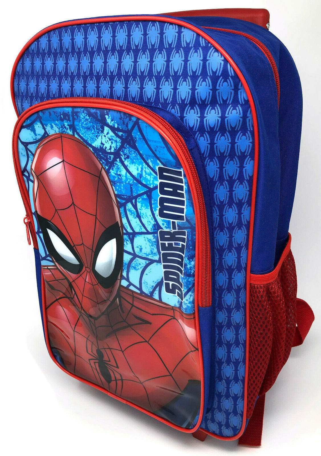 Spiderman Red & Blue Luggage Deluxe School Travel Trolley Roller Wheeled Bag