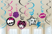 Monster High 6 Pack Swirl Decorations Party Accessories