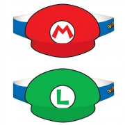 Super Mario '8 Piece' Party Hats Accessories