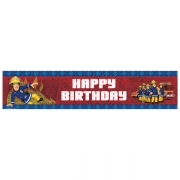 Fireman Sam 'Happy Birthday' 2.7m Holographic Banner Party Accessories