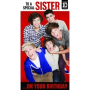 One Direction 'To a Special Sister' Birthday Card Greetings Cards