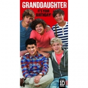 One Direction 'Granddaughter' Birthday Card Greetings Cards