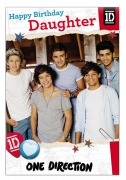 One Direction 'Daughter' Birthday Card Greetings Cards