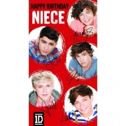 One Direction 'Niece' Birthday Card Greetings Cards