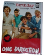 One Direction 'Recorded Sound Message' Birthday Card Greetings Cards