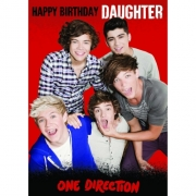 One Direction 'Daughter' with Recorded Message Birthday Card Greetings Cards