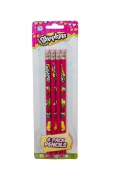 Shopkins 4 Pack Pencils Stationery