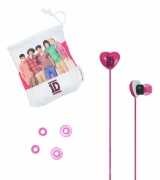 One Direction '1d' Pink Earbuds Computer Accessories