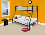 Todd Linens Triple Bed Black Single Frame