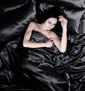 Black 6pc Satin Complete Set Bedding Super King Duvet Cover