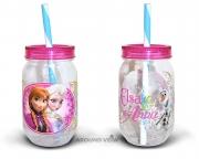 Disney Frozen 'Elsa Anna' Can Jar Tritan Bottle
