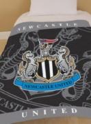 Newcastle United Fc Football Panel Official Fleece Blanket Throw