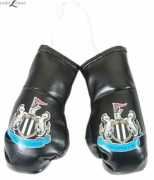 Newcastle United Fc Football Car Mirror Boxing Gloves Official Decoration