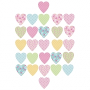 Pretty Hearts 27 Wall Stickers Sticker Decoration