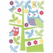 Owl In The Tree Height Chart 24 Maxi Wall Stickers Sticker Decoration