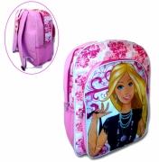 Barbie Pvc Front School Bag Rucksack Backpack