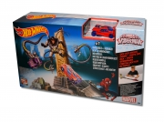 Hot Wheels Marvel Ultimate Spiderman 'Dock Ock Knock Down' Track Set Toy