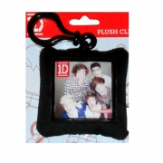 One Direction 'Group' Plush Square Shaped Backpack Clip School Bag Rucksack