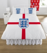 England Fc Football Panel Official Double Bed Duvet Quilt Cover Set