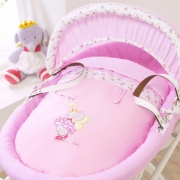 Izziwotnot Lottie Fairy Princess Wicker Moses Basket Light