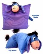 Disney Winnie The Pooh Eeyore 2in1 Shaped Cushion