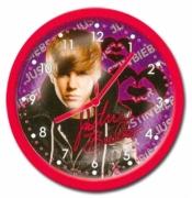Justin Bieber Pink Round Wall Clock
