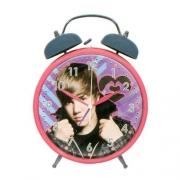 Justin Bieber Jumbo Alarm Clock Pink