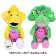 Barney & Friends 'Bj and Babybop' Assorted Plush Soft Toy